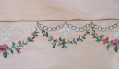 Erste Stiche für das Kleid (s. Foto ganz unten)