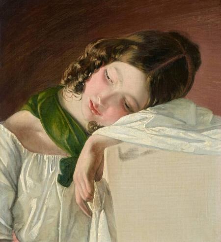 Amerling Friedrich vonJunges Mädchen1834Öl auf LeinwandGE2512